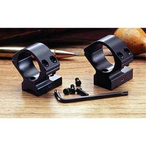 """Weatherby (6 Lug) Lightweight 1-Piece Alloy Scope Mount 1"""" High Rings Black Anodized Finish"""