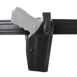 Safariland Model 6280 SLS Mid-Ride Duty Belt Holster Right Hand Fits USP 40C with GG&G Adapter and ITI Light SafariLaminate Hi-gloss Black