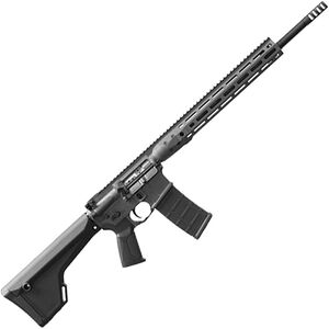 "LWRC IC DI Target/Varmint AR-15 Semi Auto Rifle 5.56 NATO 16"" Barrel 30 Rounds Direct Impingement LWRCI Extended 14"" M-LOK Freefloat Rail Skirmish Sights Adjustable Stock Black"