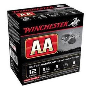 "Winchester AA Handicap 12Ga 2.75"" #8Lead 1.125oz 25 rds"