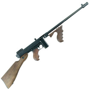 "Auto-Ordnance Thompson 1927A-1 Deluxe Semi Auto Carbine .45 ACP 16.5"" Finned Barrel 10 Round Stick Magazine Blade Front Sight Walnut Stock/Grip Blued Finish"
