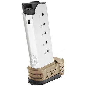 Springfield XD-S Magazine .45 ACP 6 Rounds FDE Extension Sleeve Stainless Steel XDS5006DE