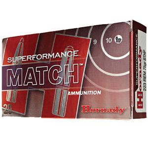 Hornady Superformance Match .223 Remington Ammunition 20 Rounds BTHP 75 Grains 80264