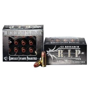G2 Research RIP 9mm Ammunition, 20 Rounds, HP, 92 Grains