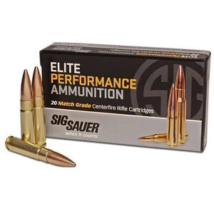 SIG Sauer Elite Match Grade .300 AAC Blackout Ammunition 20 Rounds 220 Grain OTM Subsonic 1000fps