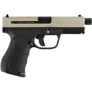 "FMK 9C1 G2 9mm Luger Semi Auto Pistol 4.5"" Threaded Barrel 14 Rounds Stainless Slide Black Polymer Frame"