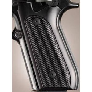 Hogue Extreme Series Taurus PT-99, PT-92, PT-100, PT-101 Checkered Grips Aluminum Brushed Gloss Black 99176