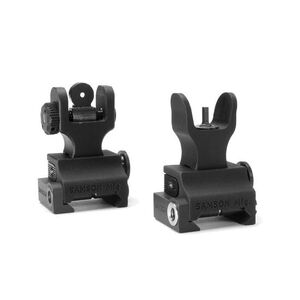 Samson AR-15 Folding Iron Sights HK Front A2 Rear Black QF-FFS-FRS