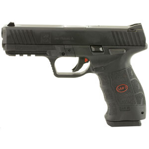 "Sarsilmaz USA SAR 9 Semi Auto Pistol 9mm Luger 4.4"" Barrel 17 Rounds Fixed Sights Striker Fired Accessory Rail Polymer Frame Black Finish"
