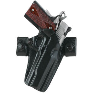 Galco Side Snap Scabbard GLOCK 19, 23, 32 Belt Holster Right Hand Leather Black SSR226B