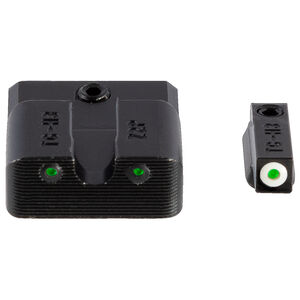 TRUGLO Tritium Pro Night Sights with White Focus Ring for S&W Shield 380 EZ Only