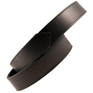 Boston Leather 6520 Reversible Garrison Sam Browne Inner Belt Size Large Hook and Loop Velcro Plain Leather Black 6520-1-L