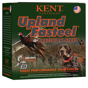 """Kent Cartridge Upland Fasteel 12 Gauge Ammunition 2-3/4"""" Shell #7 Precision Steel Shot 1-1/8 oz 1400 fps"""