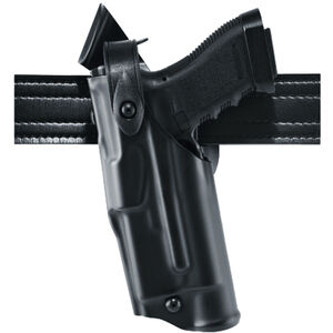 Safariland ALS/SLS Mid-Ride Duty Belt Holster Fits GLOCK 17/22 Gen 1-4 ONLY with Light Left Hand SafariLaminate Plain Black