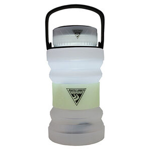 Seattle Sports Firewater Plus Collapsible 750mL Bottle with LED Lantern Lid White