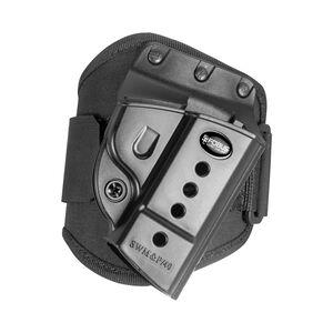Fobus Ankle Holster CZ P-06/S&W M&P/S&W SD-VE Right Hand Draw Polymer Shell/Cordura Pad with Velcro Strap Matte Black Finish