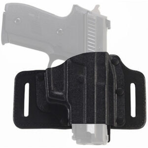 Galco TacSlide GLOCK 42 Belt Holster Leather/Kydex Right Hand Black TS600B