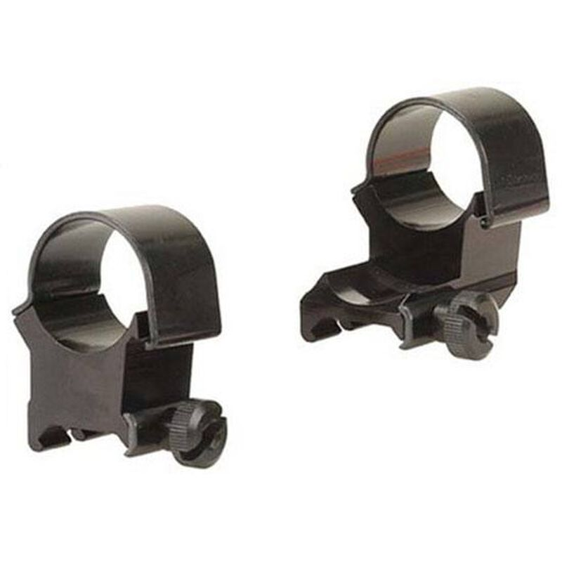 """Weaver 1"""" Detachable Top Mount Extension Rings Extra High Black 48448"""