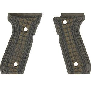 Pachmayr Dominator Beretta 92FS G10 Grips Coarse Checkered Green/Black