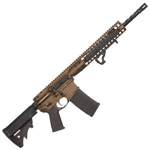 "LWRC DI AR-15 Semi Auto Rifle 5.56 NATO 16"" Barrel 30 Rounds Modular Free Float Rail LWRC Compact Stock Cerakote Burnt Bronze Finish"