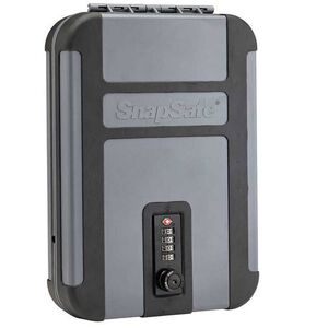 SnapSafe Treklite Lock Box XL TSA Combination Lock Polycarbonate Black/Gray 75241