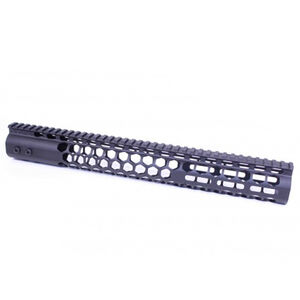 "Guntec AR-15 15"" Air Lite Series ""Honeycomb"" M-LOK Free Floating Handguard with Monolithic Top Rail Aluminum Anodized Black"