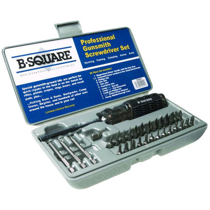 B-Square Professional Gunsmithing Screwdriver Set 26 Piece Steel Hardened Bits Hard Plastic Case T0045