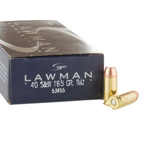 Speer Lawman .40 S&W Ammunition 1,000 Rounds TMJ 165 Grains 53955