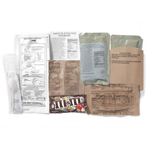Deluxe MRE's Case of 12 Complete Meals New Production