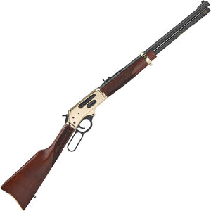 "Henry Repeating Arms Side Gate .38-55 Win Lever Action Rifle 20"" Barrel 5 Rounds Tube Magazine Adjustable Rear Sight Walnut Stock Brass/Blued Finish"