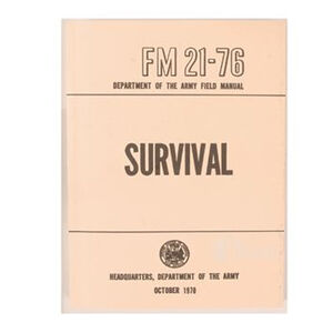 5ive Star Gear US Army FM21-76 Survival Field Manual 7025000