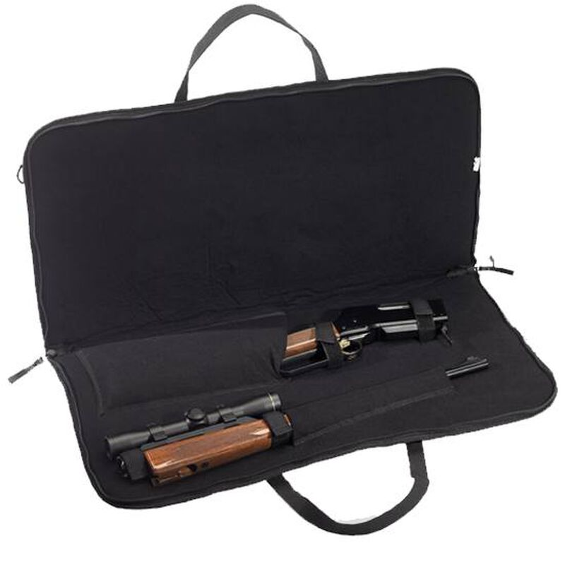 """Browning Hog Stalker Scoped Rifle Case 44"""" Foam Padded Synthetic Shell Black/Brown"""