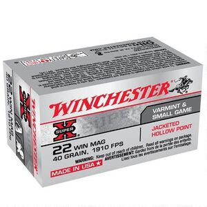 Winchester Super X .22 WMR Ammunition 2000 Rounds, JHP, 40 Grains
