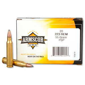 Armscor USA .223 Remington Ammunition 20 Rounds PSP 55 Grains F AC 223-2N