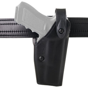 Safariland 6280 GLOCK 17 22 Dual Magazine Release SLS Mid Ride Level II Retention Duty Holster Right Hand Synthetic Leather Plain Black 6280-983-61