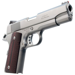"""Ed Brown CCO Compact 1911 Semi Auto Pistol .45 ACP 4.25"""" Barrel 7 Rounds Officer Frame/Commander Slide FO Front Sight Synthetic Grips Matte Stainless Steel Finish"""