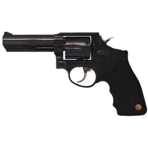 """Taurus Model 65 Double Action Revolver .357 Magnum 4"""" Barrel 6 Rounds Fixed Front/Rear Sights Soft Rubber Grip Matte Black Finish"""