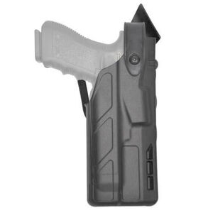 Safariland 7360 SLS Mid-Ride Level III Retention Duty Holster fits GLOCK 17/22/31 with Light Right Hand Plain Finish Black