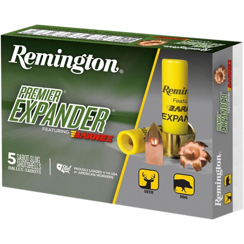 """Remington Premier Expander Sabot Slug 20 Gauge Ammunition 5 Rounds 3"""" Copper Slug 250 Grains PRX20M"""