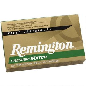 Remington Premier Match 6.5 Creedmoor Ammunition 140-Grain 20 Round Box OTMBT RM65CR