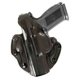 DeSantis 001 GLOCK 19, 23, 32 Thumb Break Scabbard Belt Holster Left Hand Leather Black