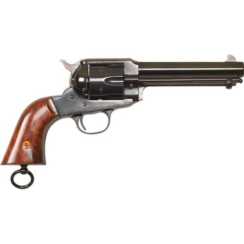 "Cimarron Firearms 1890 Remington Police .357 Mag Revolver 6 Rounds 5.5"" Barrel Walnut Grips with Lanyard Loop Blued Finish"