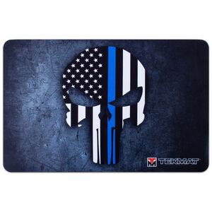 """TekMat Thin Blue Line Punisher Armorer's Mat 11""""x17"""""""