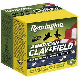 "Remington American Clay & Field 20 Gauge Ammunition 2-3/4"" Shell #7.5 Lead Shot 7/8oz 1200fps"
