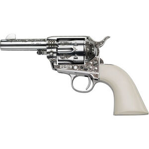 "E.M.F. Deluxe Engraved General Patton 1873 Revolver .45 LC 4.75"" Barrel 6 Rounds Laser Engraved Ivory Grips Stainless Steel"
