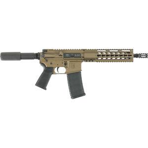 "Diamondback DB15P AR-15 Semi Auto Pistol 5.56 NATO 10.5"" Barrel 30 Rounds Aluminum Modified Four Rail Hand Guard Polymer Pistol Grip Burnt Bronze Finish"
