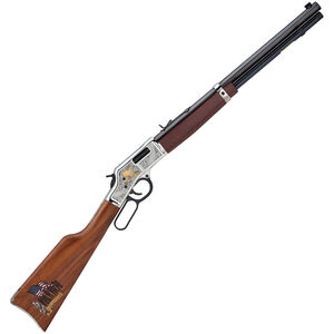 "Henry Big Boy God Bless America Edition Lever Action Rifle .44 Special/.44 Magnum 20"" Octagon Barrel 10 Rounds Adjustable Sights American Walnut Stock Nickel Plated Receiver Blued Barrel Finish"