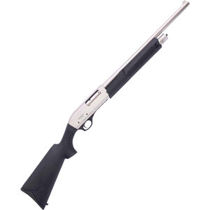 "Omega Arms P12 Pump Action Shotgun, 12 Gauge, 20.07"" Barrel, 3"" Chamber, 4 Round Tube, Synthetic Stock, Marine White Chrome Finish"
