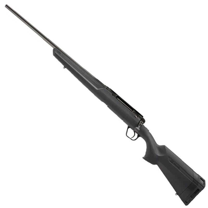 "Savage Axis II Left Hand Bolt Action Rifle .25-06 Remington 22"" Sporter Profile Barrel 4 Rounds Detachable Box Magazine AccuTrigger Synthetic Stock Matte Black Finish"