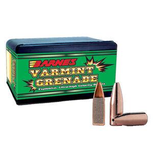 "Barnes Varmint Grenade Lead Free .22 Caliber .224"" Diameter 50 Grain Flat Bottom Hollow Point Projectile 250 Projectiles Per Box"